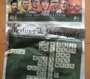 """WM: Titelseiten von """"Welt am Sonntag"""" und """"Berliner Morgenpost"""""""